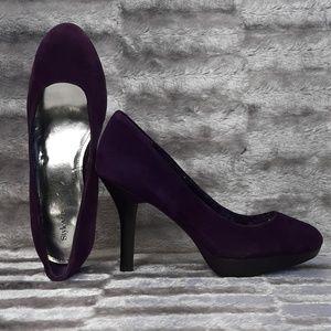 7M Style&co. PSYCHE Purple Suede Platform 4'' Heel